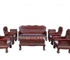 阔叶黄檀、福安达红木家具厂家、阔叶黄檀幸福绵绵沙发11件套