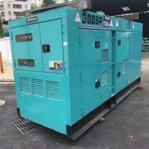 200kw二手静音柴油发电机组原装日本进口电友发电机300s