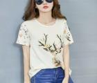 广东T恤批发网站便宜的T恤批发韩版女装修身T恤