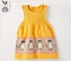1-5岁女款儿童全棉针织连衣裙 儿童毛衣批发