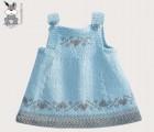 1-3岁女童全棉针织连体裙 儿童毛衣批发