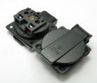 E-013 欧规防水插座 欧标防水卡式插座 小型发电机电源插