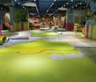 儿童乐园彩绘地垫,游乐场带图案软地垫、PVC彩绘地垫