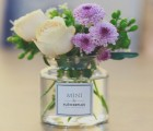 米立风物 mini花瓶 ins北欧风玻璃花瓶 英文贴纸花瓶