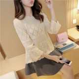 韩版女款针织外套批发哪里有时尚潮流毛衣批发高领女装毛衫批发