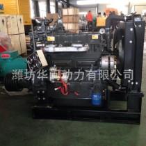 潍坊4102固定动力柴油发动机 50KW柴油发动机 离合器皮带轮图片