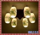 现代婚礼喜庆礼物床头书房卧室中式文化台灯 创意台灯