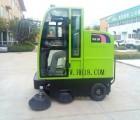 工厂扫路车 工业物业道路清扫 电瓶电动式全封闭驾驶室式扫地机