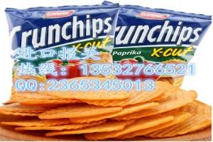 印度零食薯片代理进口报关流程与费用