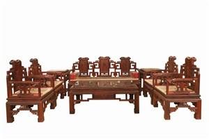 缅甸花梨沙发 北方不开裂花梨木沙发 雕工精美 缅花家具