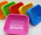方形硅胶碗 4.5寸硅胶碗 可加热 干果零食果盒碗
