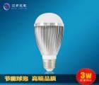 3w家用应急节能塑包铝led球形灯泡e14e27无铅铝球泡灯