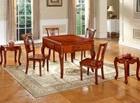 热销新款大气进口橡胶木麻将桌餐桌两用 家用高端七件套定制加工