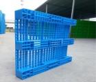 南充川字塑料托盘货架载重0.8吨  塑料托盘多少钱一个