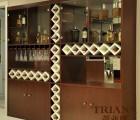 蒂亚娜衣柜加盟之花梨跳色简约款酒柜