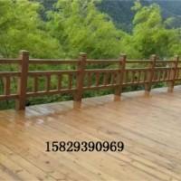 供应洛川县河道护栏-水泥护栏-仿木廊架-仿木凉亭-街边花箱