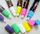 10mm荧光板专用笔 LED电子黑板荧光笔 6色套 水性可擦