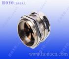 上海焕诺电气HONO黄铜镀镍屏蔽电缆接头,EMC黄铜镀镍接头