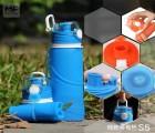 户外运动品牌广告促销礼品 硅胶跑步运动水壶防爆防摔防漏水杯