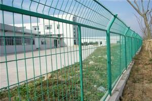 勾花网 护栏网 机场电焊网片护栏 体育场包塑PVC勾花网围栏