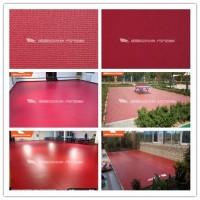 旗舰PSP红色布纹卷材地板
