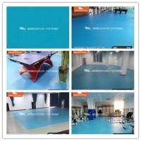 旗舰PSP蓝色布纹卷材地板