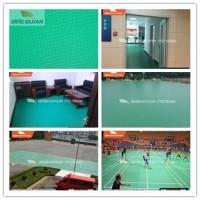 旗舰PSP绿色布纹卷材地板