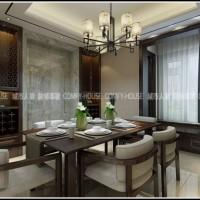 淄博装饰装修丨龙泰国际196㎡丨新中式设计方案效果图