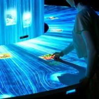 一种创意的互动投影展示系统——数字瀑布