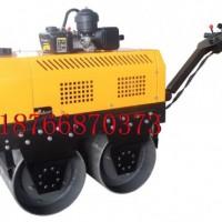 手扶式双轮压路机 柴油手扶式压路机    双钢轮小型压路机