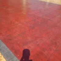 芜湖水泥砖块压花路面施工