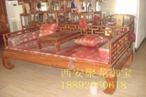 西安仿古罗汉床 红木罗汉床供应 中式罗汉床定做厂家