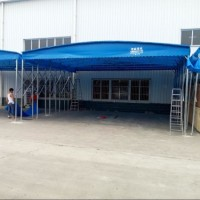 户外遮阳棚子展览帐篷轿车车棚推拉雨棚彩棚定做