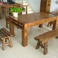 老榆木餐桌椅让您把自然的味道带回家