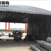 工厂仓库推拉篷推拉式雨棚厂家定制