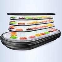 浙江水果风幕展示柜批发销售 高效蔬菜风幕岛柜价格实惠