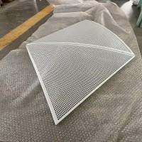 商场室内弧形冲孔铝单板  白色穿孔三角造型铝单板墙面装饰