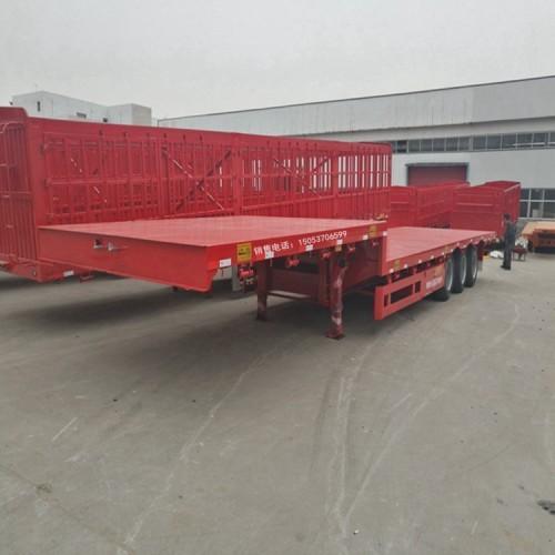 13.75米挖掘机拖板车抽拉式挂车今日行情价位