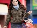 泉州2011时尚新款女装韩版 纯色夹克冬装外套女休闲毛领修身外衣29165