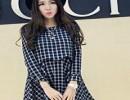 韩版加厚里料双层格子假两件连衣裙 3258#