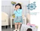 新款2014春季小童韩版长袖针织公主连衣裙 热销条纹女童套裙