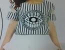 批发时尚韩版t恤批发时尚印花女t恤衫十三行库存便宜时尚韩版