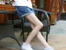 夏季牛仔短裤韩版宽松水洗蓝色怀旧翻边牛仔卷边短裤翻边短裤