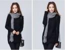 针织韩版尾货长款便宜棉衣批发郑州的银基女式针织衫库存