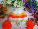 新款韩版儿童针织帽子双球宝宝套头帽子