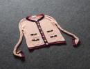 厦门名牌女装批发市场拼接V领镂空针织开衫