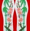 十字绣针孔鞋垫图案