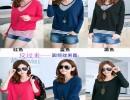 2014秋装新款韩版圆领条纹假两件套纯棉长袖t恤女装 厂家直
