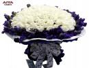 艾亚99朵白玫瑰鲜花速递全国同城送花生日鲜花速递