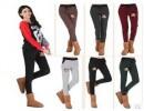 新款秋冬女式休闲裤针织长裤 加绒加厚纯棉宽松运动卫裤